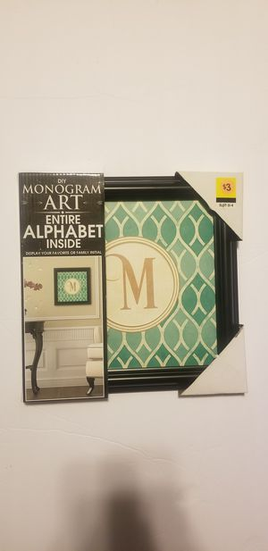 DIY monogram wall art for Sale in Gahanna, OH