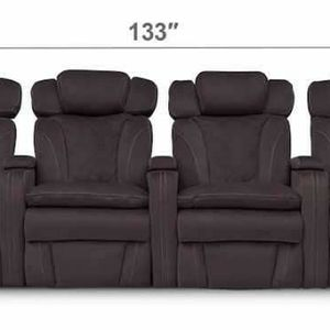 FIERO 4-PIECE DUAL POWER RECLINING HOME THEATER SECTIONAL for Sale in Baltimore, MD