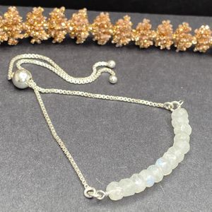 Moonstone Sterling Silver Bolo Bracelet for Sale in King of Prussia, PA