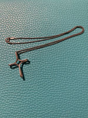 "Tiffany & Co. Infinity Cross pendant with 16"" chain, authentic Elsa Peretti $200 for Sale in Tampa, FL"