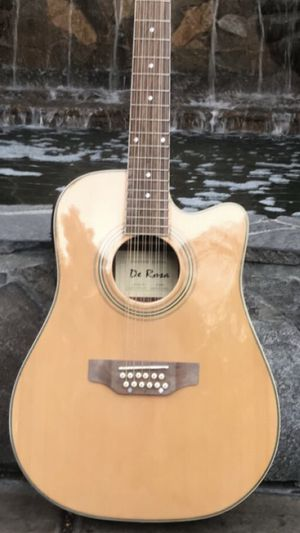 New 12 String Requinto Cutaway Acoustic-Electric Thin Body Guitar Natural for Sale in Lynwood, CA