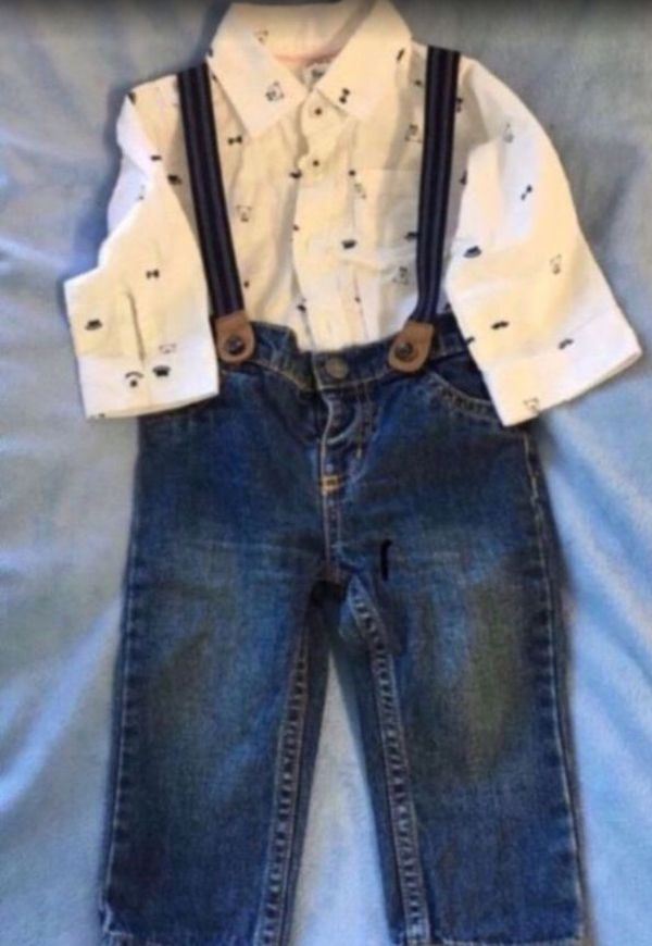 Baby boy set (3pcs) 👶🏼👖👕