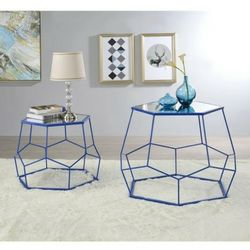 Contemporary Metal Nesting Accent Table Set in Blue Finish for Sale in West Covina,  CA