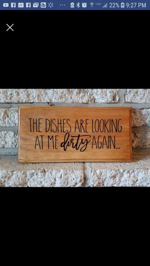 """Handmade wooden sign """"the dishes..."""" for Sale in Frederick, MD"""