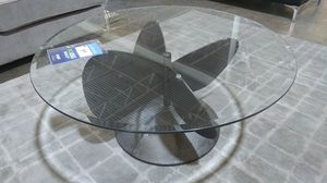 Really unique propeller glass coffee table for Sale in Dallas, TX