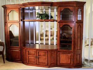 Cherry Wood Entertainment Center Wall Unit for Sale in Los Angeles, CA