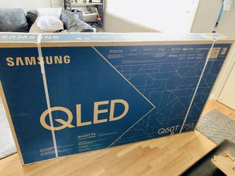 "Samsung - 75"" Class Q60T Series QLED 4K UHD Smart Tizen TV Samsung QN75Q60TAFXZA Brand New In Box for Sale in Atlanta,  GA"