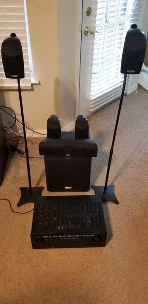 Denon amplifier plus , Polk audio home theater for Sale in Dallas, TX
