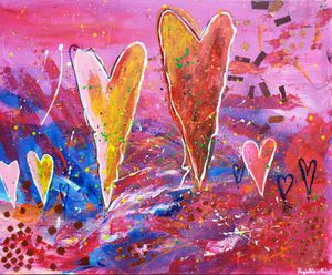 Abstract painting- Flowing hearts💕 for Sale in Farmington Hills, MI