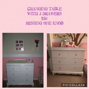 White Changing Table for Sale in Spring Hill, FL
