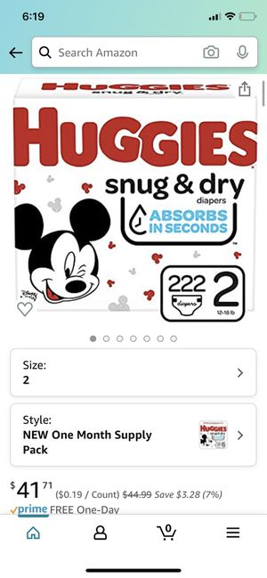Huggies snug and dry size 2 for Sale in Phoenix, AZ