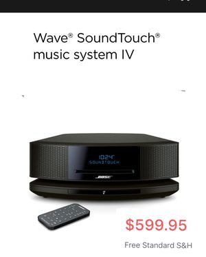 BOSE Wave® SoundTouch® music system IV w/ CD player! Color: Expresso Black. Alexa & Wi- Fi enabled! $300 OFF MSRP NEW W/NO BOX FULL DESCRIPTION ⬇️ PR for Sale in Las Vegas, NV