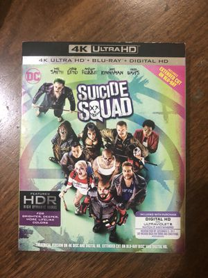Suicide Squad 4k Bluray extended cut for Sale in Portland, OR