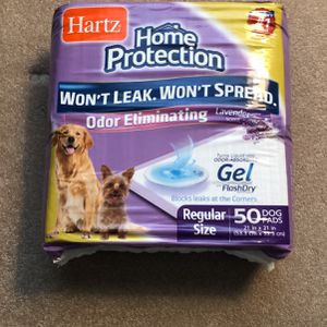 Hartz Dog And Puppy Pads With Odor Absorbing FlashDry Gel! NEW PACKAGE 50 Pads for Sale in Hoffman Estates, IL