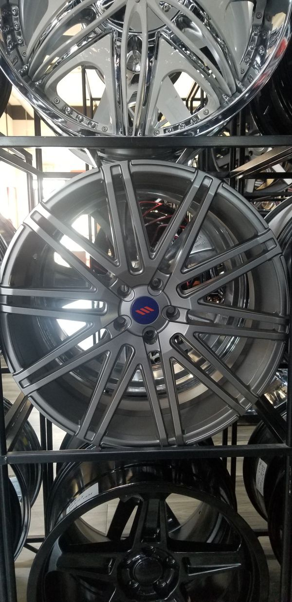 22x9 22x9.5 5x120 Gunmetal Gray BLACK FRIDAY DEALS