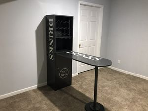Bar table / wine/ beer display storage combo for Sale in Normal, IL