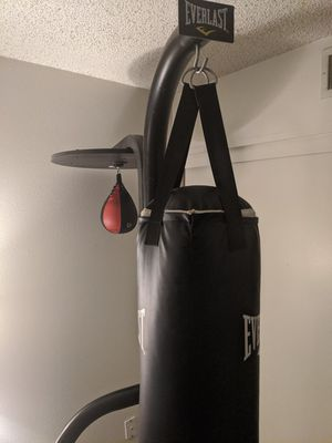 Punching bag stand, bag, speed bag for Sale in Riverside, CA