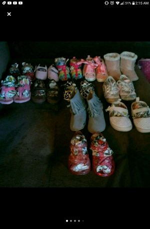 Babygirl shoes flats boots sandles 0.3m 6.9m 12m for Sale in Fresno, CA