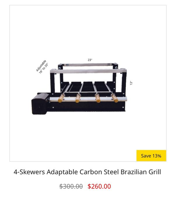 Authentic Brazilian BBQ Grill (Rotisserie Style)