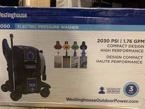 Westinghouse ePX3050 Electric Pressure Washer 2030 MAX PSI 1.76 GPM with Anti-Tipping Technology, Soap Tank and 4-Nozzle Set for Sale in Las Vegas, NV