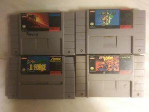 4 super Nintendo Games All for $25 for Sale in Clanton, AL
