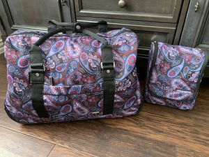 Rolling Paisley Duffle with Small travel bag for Sale in Flower Mound, TX