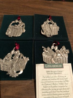 Pewter ornaments by Longaberger (collection of 12) for Sale in Lancaster, OH