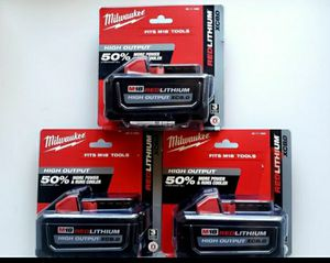Milwaukee High Output M18 8.0 Battery Brand New for Sale in Rancho Cucamonga, CA