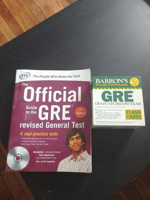 GRE Study Book & Flashcards for Sale in Columbus, OH
