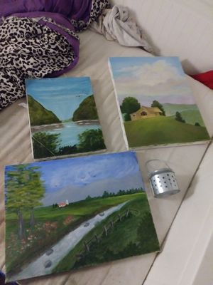 FREE Paintings & Small Candle Holder *Please read description* for Sale in Buena Park, CA