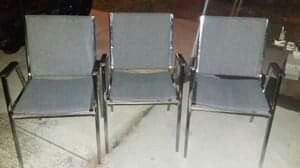 3 Metal Chairs for Sale in Alexandria, VA
