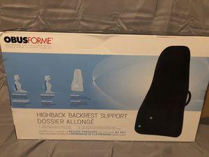 ObusForme highback backrest support for Sale in Columbus, OH