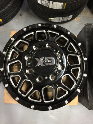 """Brand New 17"""" Inch KMC XD843 Gloss Black Milled 17X6.5 Dually Wheels Rims Rines 8X165.1 8X6.5 for Sale in Austin, TX"""