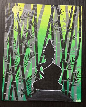 Hand Painted Green Forest Lord Budha for Sale in Fairfax, VA