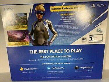 NEW PS4 Playstation 4 1TB Slim Console Fortnite Noe Versa Bundle