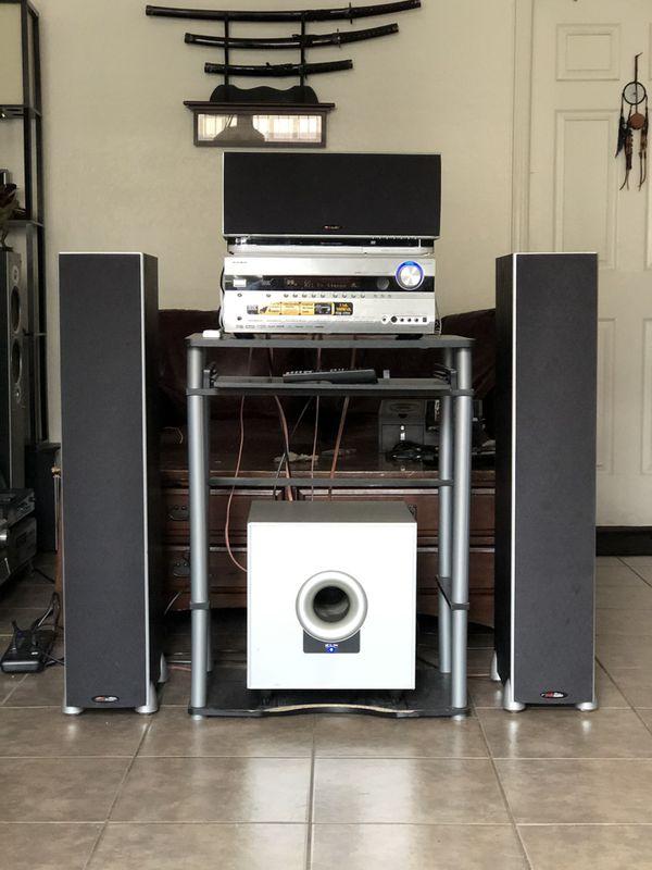 Onkyo Dolby TrueHD, DTS-HD High Quality Receiver w/ Bluetooth & POLK AUDIO & big KLH Subwoofer $325 Only