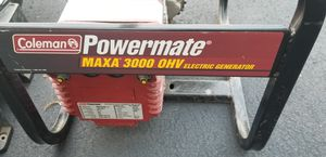 COLEMAN POWERMATE 3000 WATTS GENERATOR RV LIKE NEW USED TWICE for Sale in West Hartford, CT