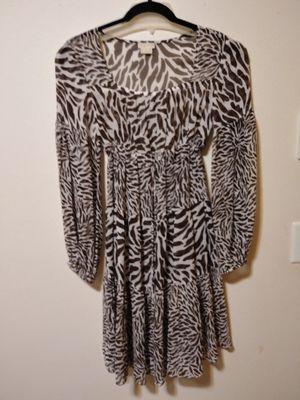 MICHAEL KORS SMALL/PETITE. SHEER, ANIMAL PRINT PEASANT DRESS for Sale in Seattle, WA
