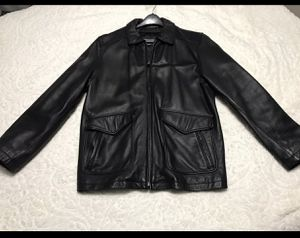 Wilson's leather men's black jacket medium for Sale in Chicago, IL
