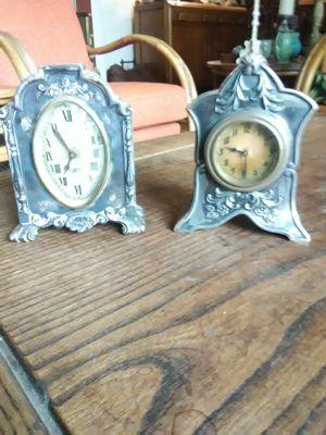 Vintage metal clocks for Sale in Lodi, CA