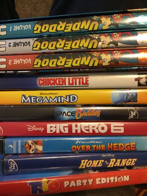 Disney and kid DVDs $5 each for Sale in Fresno, CA