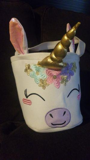 Unicorn Halloween/ Easter basket for Sale in Ontario, CA