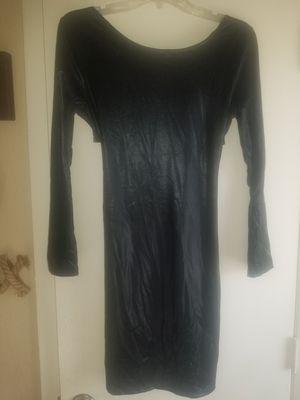 New faux leather/spandex sparkle black dress. Medium for Sale in Nashville, TN