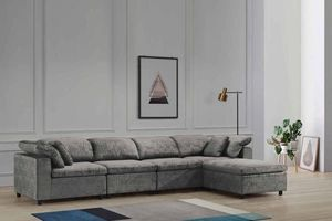 NEW LIMA FABRIC SECTIONAL SOFA. GRAY. ONLY $999. NO CREDIT CHECK OR ONE YEAR DEFERRED INTEREST FINANCING AVAILABLE. for Sale in Lakeland, FL