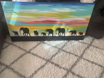 African painting by Musah for Sale in Washington,  DC