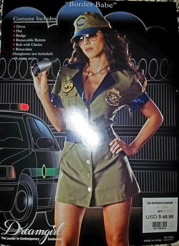 Sexy Womens Border Patrol Police DreamGirl Halloween Costume Ladies Medium