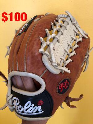 Rolin pro baseball glove new condition quality leather equipment bats Rawlings easton Wilson mizuno demarini tpx Nike for Sale in Culver City, CA