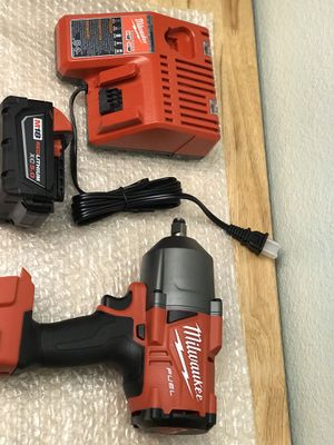 Today only.... Milwaukee 1/2 impact wrench 1400-ft-lbs.....battery and charger.....$260....pickup only.....brand new..... for Sale in Bloomington, CA