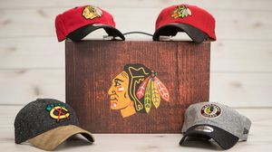 Blackhawks Collector box with hats for Sale in Chicago, IL