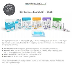 RODAN+FIELDS Big Business Launch Kit for Sale in Houston, TX